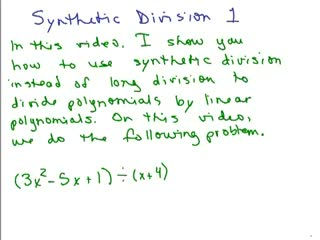 Synthetic Division Part 1 preview image