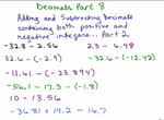 Add/Subtract Positive/Negative Decimals 2 preview image