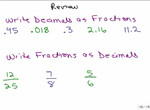 Convert between Fraction and Decimal preview image