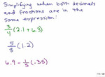Expressions Fractions Decimals 1 preview image