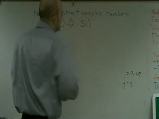 Subtracting Complex Numbers videos