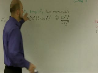 Simplifying Monomials using Law of Exponents preview image