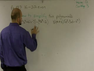 Using Operations to Simplify Polynomials preview image