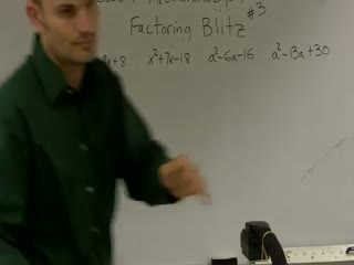 Factoring Trinomials where a = 1 preview image