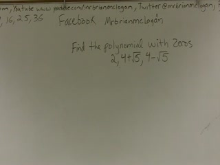 Writing a Polynomial from Irrational Zeros preview image