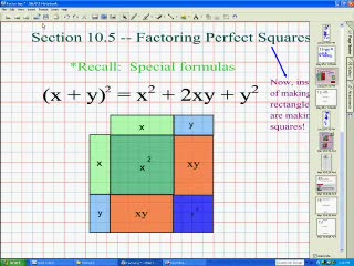 Factoring Perfect Squares preview image