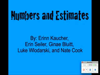 Numbers & Estimates preview image