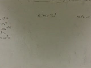 Factoring a Trinomial by Taking Out Common Terms preview image