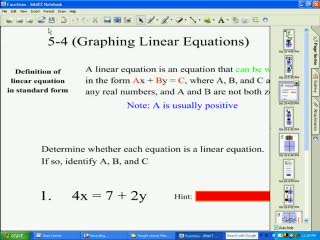 Graphing Linear Equations preview image