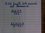 Simplify Numerator and Denominator of Expressions preview image