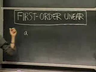 First-Order Linear ODEs videos