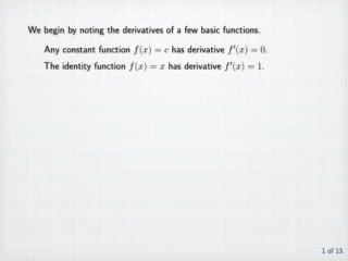 Calculation of Derivatives preview image