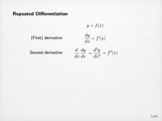 Higher-Order Derivatives preview image