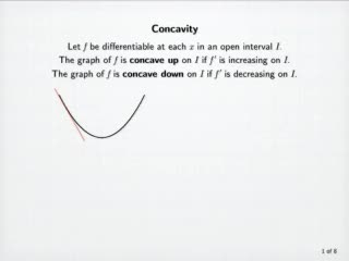 Concavity and the Second Derivative Test preview image