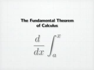 Fundamental Theorem of Calculus videos