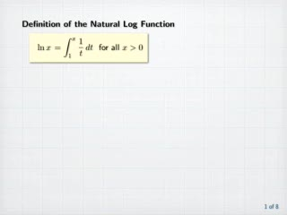 The Natural Logarithm preview image