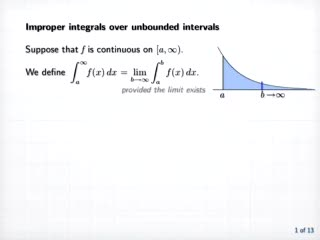 Improper Integrals preview image