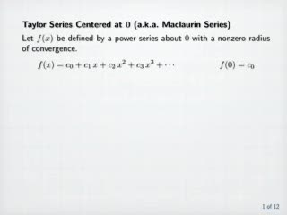 Taylor / Maclaurin Series videos