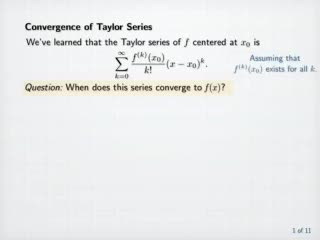 Taylor's Theorem preview image