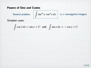 Integration of Powers and Products of Sine and Cosine preview image