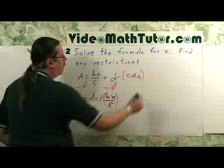 Algebra: Solving Linear Equations - Part 2: Applications preview image