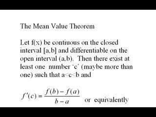 Mean Value Theorem videos