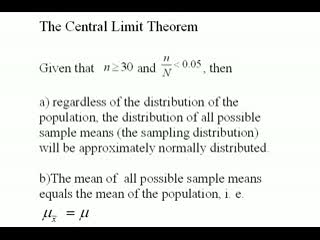 central limit theorem videos for college math statistics help  the central limit theorem part 1 of 2 preview image