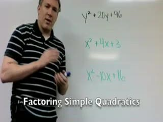 Factoring simple quadratics (Part 2) preview image