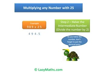 Ex 2 - Multiplying numbers with 25 preview image