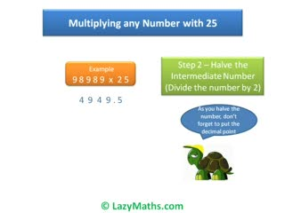 Ex 3 - Multiplying numbers with 25 preview image