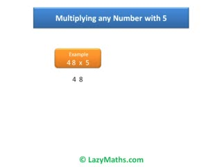Ex 1 - Multiplying numbers with 5 preview image