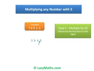 Ex 2 - Multiplying numbers with 5 preview image