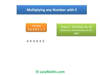 Ex 3 - Multiplying numbers with 5 preview image