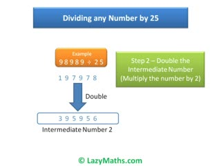 Ex 3 - Dividing numbers by 25 preview image