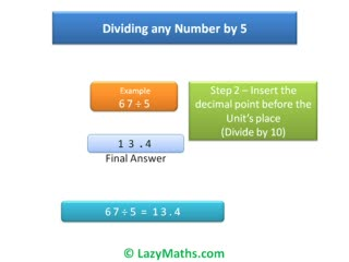 Ex 1 - Dividing numbers by 5 preview image