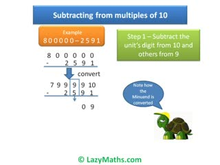 Ex 2 - Subtracting from multiples of 10 preview image
