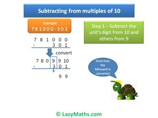 Ex 3 - Subtracting from multiples of 10 preview image
