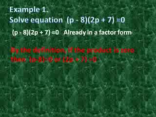 Solving Equations by Factoring preview image