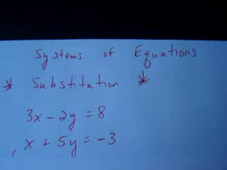 Solving Systems with Substitution videos