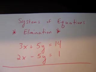 Systems of Equations-Elimination-Part1 preview image