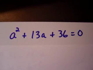 Factoring to solve equations Part 1 preview image