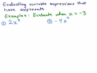Exponents Part 2 - Exponents and Evaluating Expressions preview image