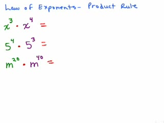Exponents Part 3 - Product Rule for Exponents preview image