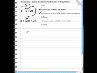 Solving Systems of Linear Equations Using Substitution preview image