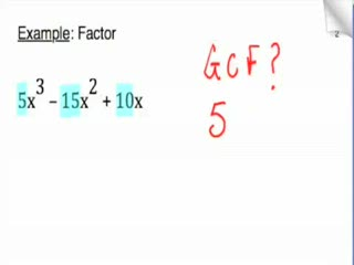 Factoring polynomials using GCF preview image