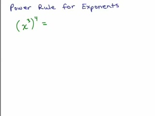 Exponents - Power Rule  preview image