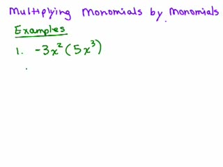 Multiplying a Monomial by a Monomial preview image