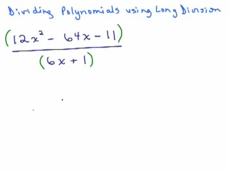 Divide Polynomials using long division - Part 1 preview image