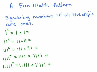 Numbers and Number Patterns videos