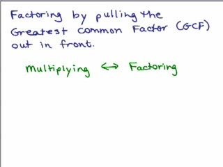 Factoring out Greatest Common Factor videos